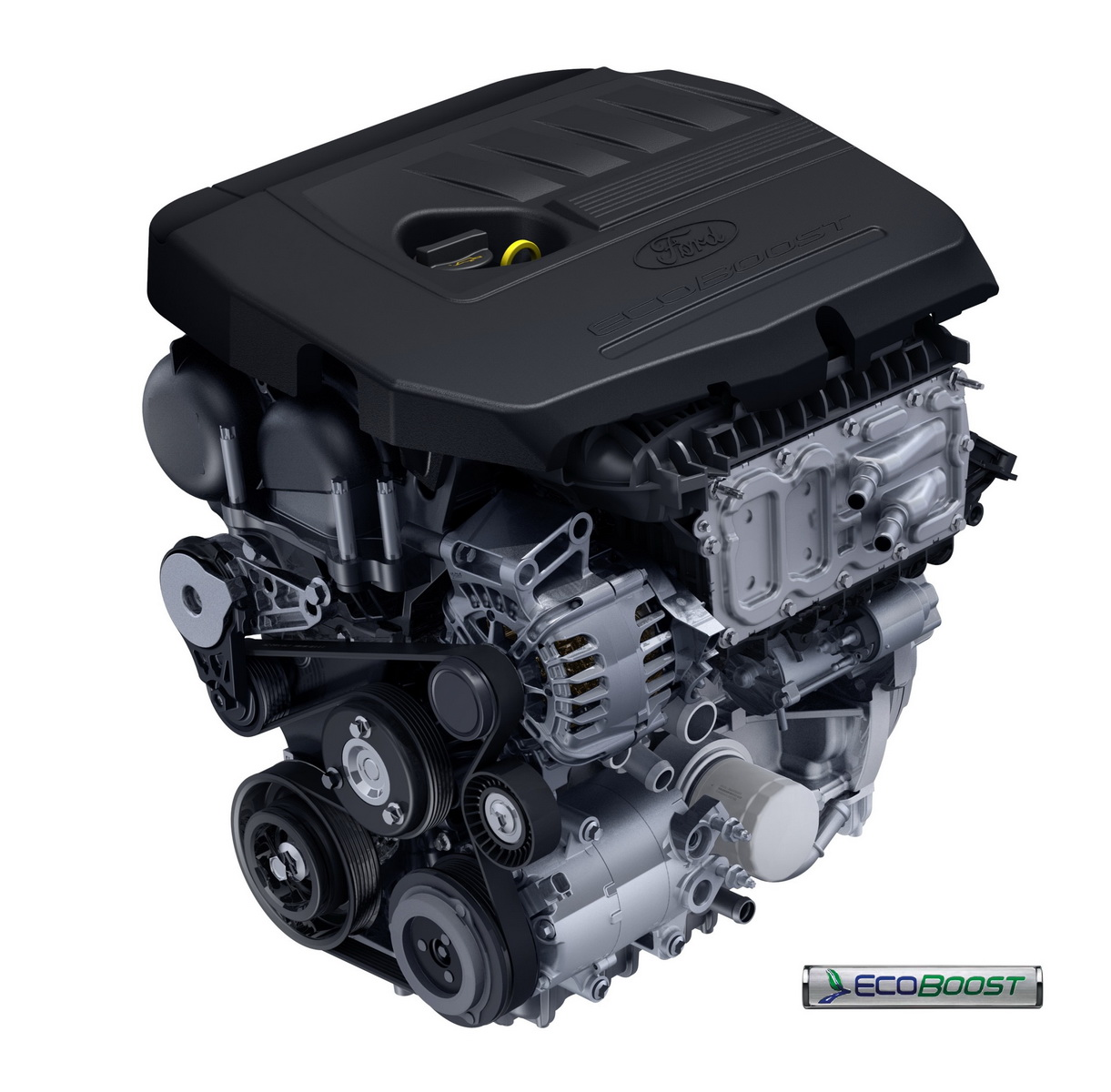 EcoBoost Turbo 1 5L Engine with Logo