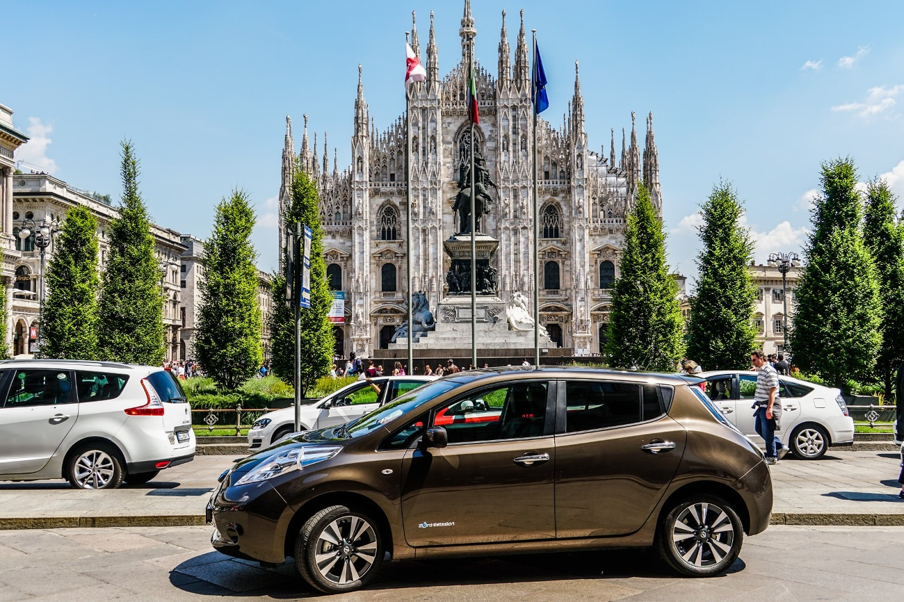 Zero emission Nissan vehicles set to electrify Milan at UEFA