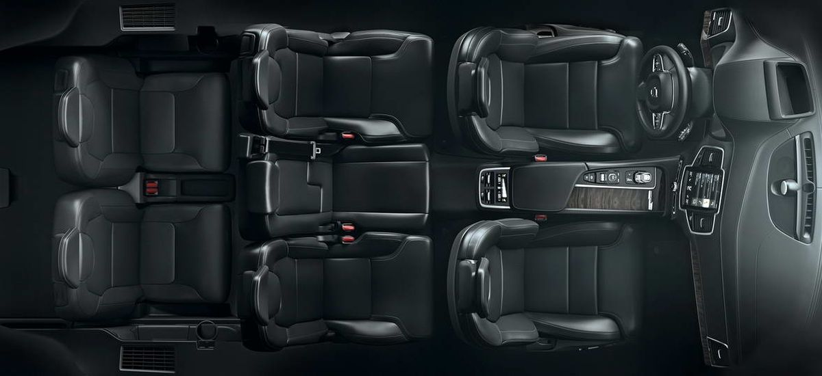 The all-new Volvo XC90 - seven-seat interior overview, top view