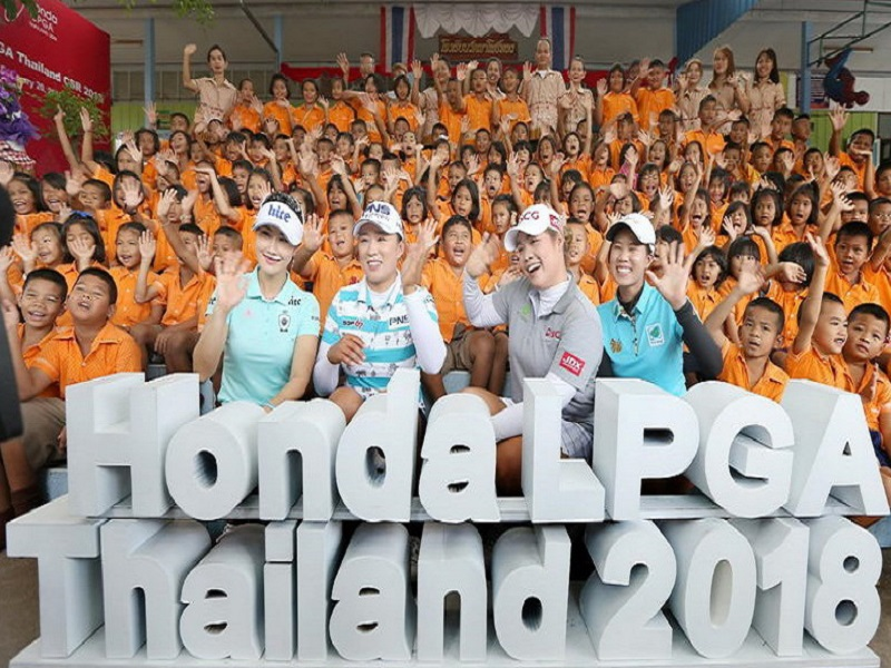 ขับฮอนด้า ซีอาร์-วี ร่วมทำกิจกรรมเพื่อสังคม Honda LPGA Thailand CSR 2018