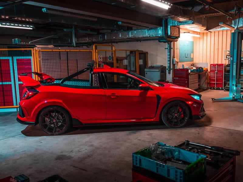 Honda เซอร์ไพรส์จัดต้นแบบกระบะ Civic Type R โชว์ที่เมืองผู้ดี
