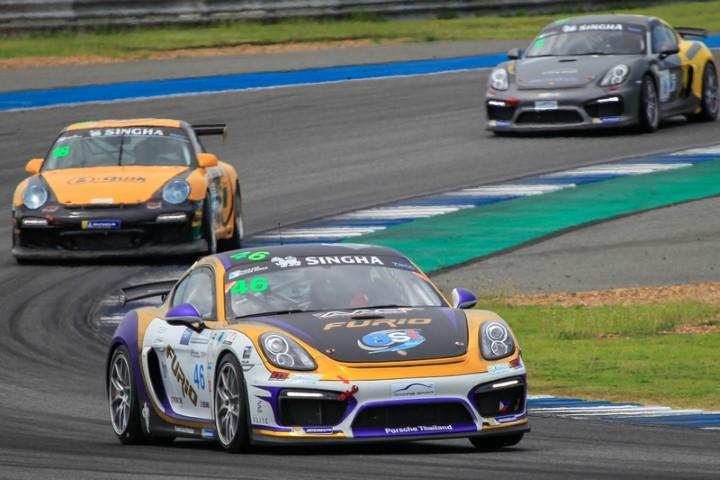 AAS Motorsport เฉือนคู่แข่งสุดมันคว้าแชมป์ รุ่น Porsche Cayman GT4 Trophy Thailand