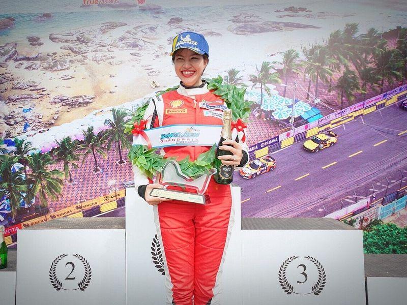 'กันธิชา' นักขับหญิงหนึ่งเดียวศึก TSS-คว้าชัยรุ่น GTM AM รายการบางแสน กรังด์ปรีซ์ 2018