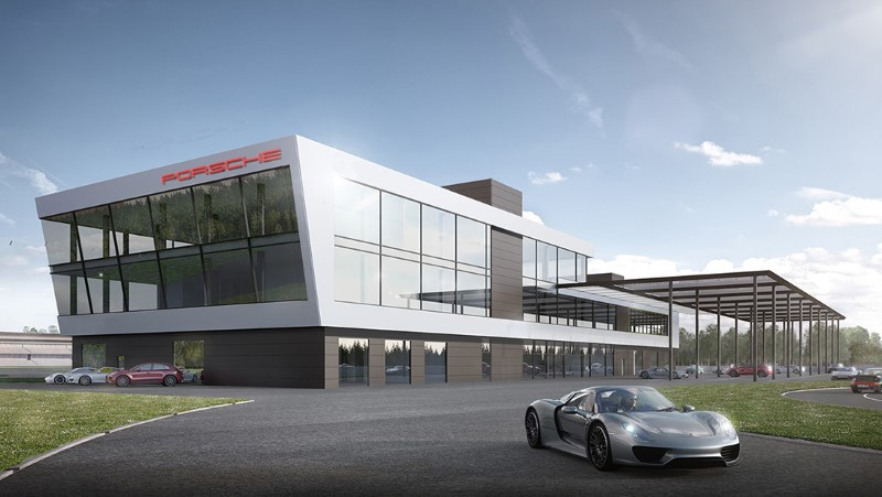 Porsche เริ่มการก่อสร้าง Hockenheimring Porsche Experience Centre