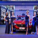 Miss Grand Thailand 2018 เยี่ยมชมนวัตกรรมยานยนต์อัจฉริยะ i-SMART ที่งาน MG Expo 2018