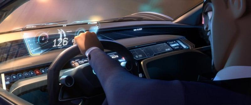 Audi RSQ e-tron คอนเซ็ปต์คาร์สำหรับอนิเมชั่น