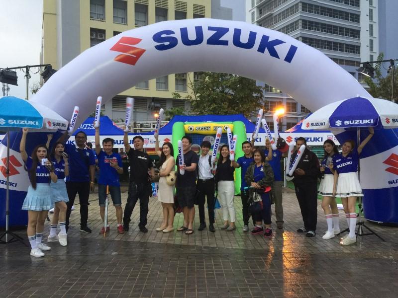 ซูซูกิ พร้อมเชียร์ช้างศึกในการแข่งขัน AFF SUZUKI CUP 2018