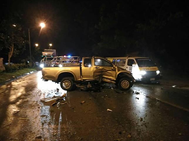 อุบัติเหตุ ระหว่างมอเตอร์ไซค์ กับรถยนต์