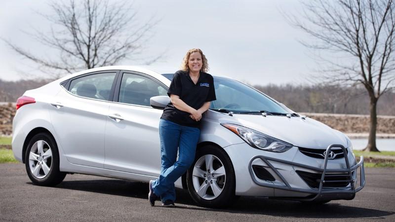 สุดโหด สาวอเมริกันขับ Hyundai Elantra 5 ปี 1 ล้านไมล์