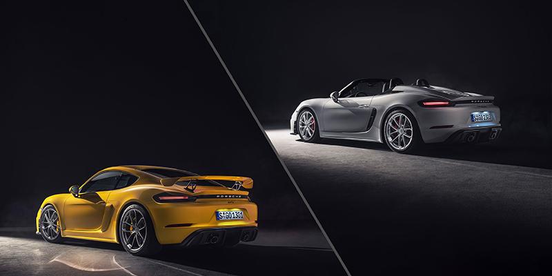 Porsche เพิ่มรุ่นแรง Spyder และ Cayman GT4 ให้ 718