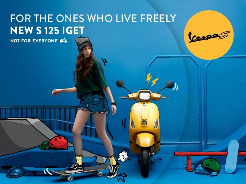 เวสป้า เอส 125 ไอ-เก็ต (Vespa S 125 i-Get) โฉมใหม่ ราคา 96,900 บาท