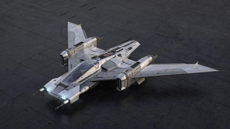 Tri-Wing S-91x Pegasus Starfighter เครื่องบินรบอวกาศผลงานจาก Porsche