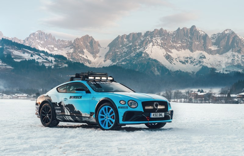 Bentley Ice Race Continental GT ตัวแข่งความเร็วบนพื้นน้ำแข็ง