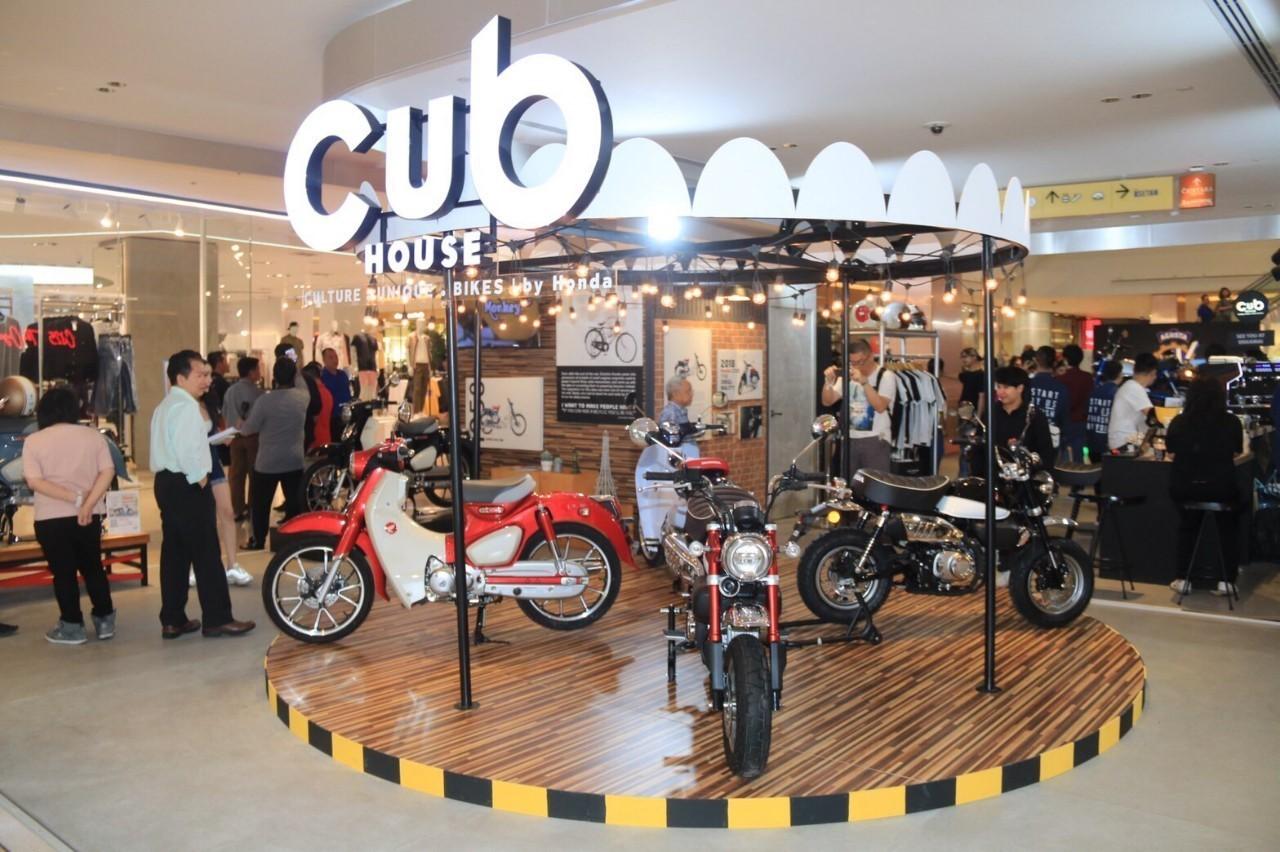 ฮอนด้ายกบรรยากาศร้าน CUB House  แสดงในงาน Bangkok Motorbike Festival 2020