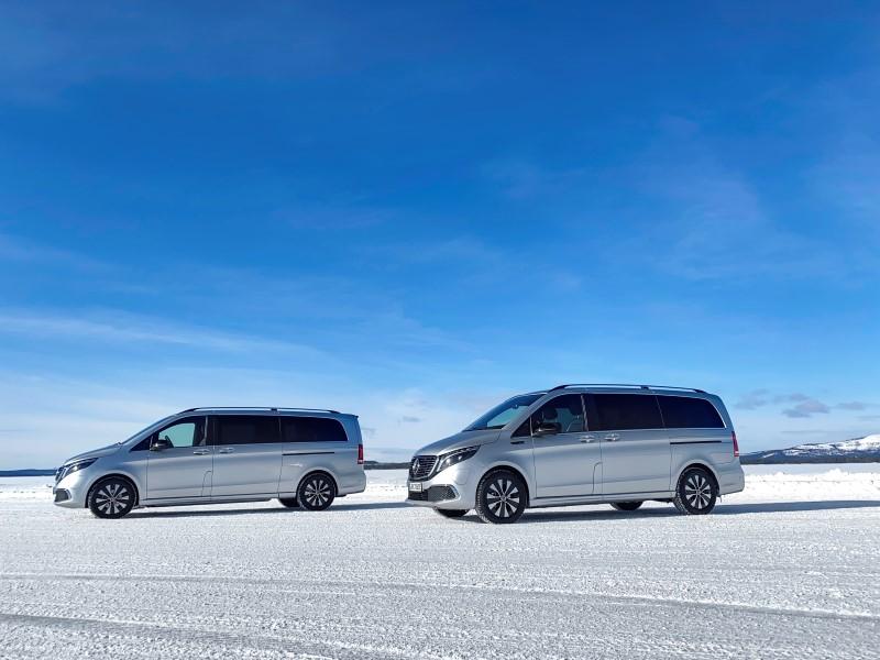 Mercedes-Benz  EQV เสร็จการทดสอบในอากาศหนาวจัดเตรียมขายหลังกลางปีนี้